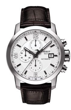 The Tissot's PRC 200 is a sport watch collection built for performance featuring Swiss quality and craftsmanship at a gentle price. This flagship collection of timepieces is available in a multitude of looks to compliment various lifestyles. Scratch resistant sapphire crystal protects this beautiful timepiece which is available with either quartz or automatic Swiss ETA movements to keep you on time. You may enjoy the convenience of a date display or prefer a day/date display. Some models ...