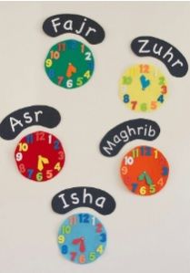 Prayer time clocks - great for Ramadan to see iftar and end of suhoor times! Eid Crafts, Ramadan Crafts, Ramadan Decorations, Diy And Crafts, Crafts For Kids, Ramadan For Kids, Decoraciones Ramadan, Islam For Kids, Spirituality
