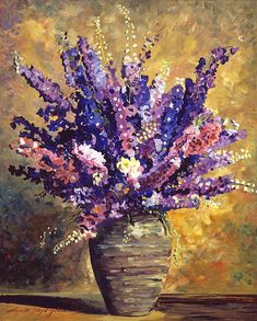 Beaujolais Bouquet - oil painting by David Lloyd Glover