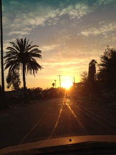 Gorgeous sunset in Los Angeles