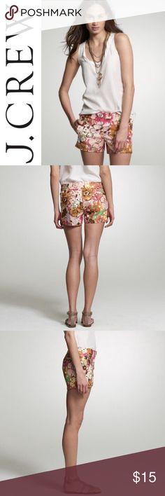 "J. Crew Watercolor Lily Shorts ✔️Inseam: 3"" ✔️98% Cotton•2% Spandex J. Crew Shorts"