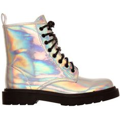 Ark Silver Holograph Boots