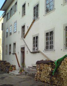 Cat ladder in Switzerland! have seen these in Swiss villages