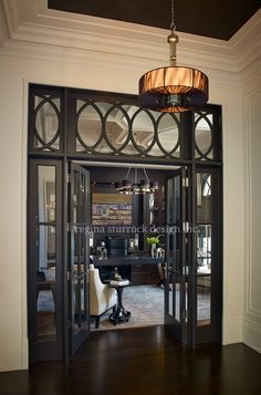 Classic transom with elegant tracery detailing. Burlington Interior Design Project: Contemporary Classicism | Regina Sturrock Design Inc