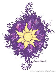 sun drawing from Tangled ... Getting this tattoo some day