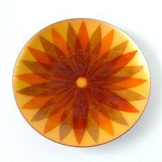 Vintage Mid Century Enamel Plate by Annemarie Davidson by vint, $98.00