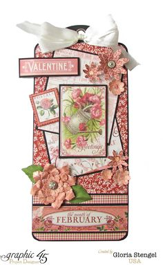 Graphic 45 Time To Flourish February Tag 1 - Scrapbook.com