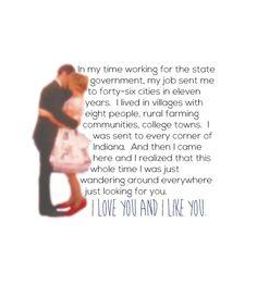 I love you and I like you.