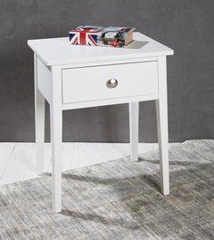 Beistelltisch mit schublade modern  Couchtisch Beistelltisch weiß Holzbeine Natur Retro Tisch Modern ...