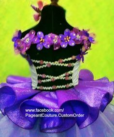 Glitz pageant lilac purple babydoll dress N15  by PageantCouture, $325.00