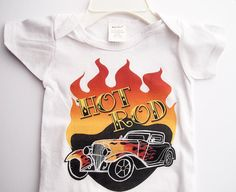 Hey, I found this really awesome Etsy listing at http://www.etsy.com/listing/163828166/tattoo-romper-hot-rod-onesie-rockabilly