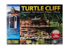 Exo Terra Turtle Cliff Aquatic Terrarium Filter/Rock Small
