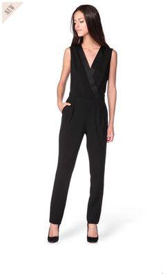 Combi-pantalon noire Pauline Tara Jarmon prix Combi pantalon Monshowroom 309,00 €