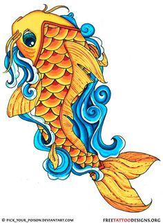 orange-koi-fish.jpg (528×724)