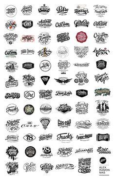 Typography - Logos compilation by Alex Ramon Mas Designs on Behance - CoDesign Magazine Typography Letters, Typography Design, Branding Design, Logo Luxury, Marken Logo, Badge Logo, Vintage Logo Design, Badge Design, Corporate Design