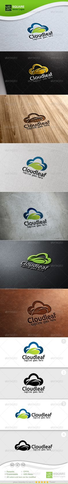 Buy Cloud, Leaf Vector Logo Template by svlogos on GraphicRiver. File Description This is custom logo template. Illustrator (AI), Photoshop (PSD), Vector (EPS) logo files included in. Logo Design Template, Logo Templates, Gear Template, Shield Template, Leaf Vector, Logo Online, Online Web, Logos Photography, Star Photography