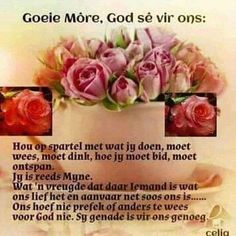 Afrikaanse Quotes, Goeie More, Good Morning, Poems, Buen Dia, Bonjour, Poetry, Verses, Good Morning Wishes