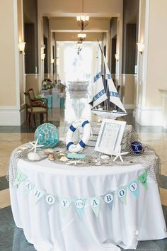 Ahoy It's A Boy Banner, Nautical Baby Shower, Boy Baby Shower, Lime and Blue,… Baby Shower Favors, Shower Party, Baby Shower Games, Baby Boy Shower, Boy Baby Showers, Anchor Baby Showers, Baby Favors, Baby Showers Marinero, Sailor Baby Showers