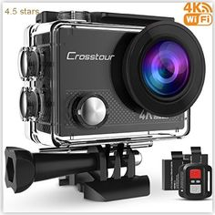 Crosstour Waterproof 170B0Wide angle Rechargeable Accessories