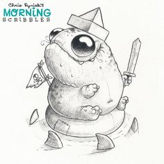 A Pirate's life for me! ☠⚓️ #morningscribbles