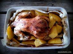 κοτόπουλο στο φούρνο Marinade Sauce, Greek Recipes, Pork, Food And Drink, Turkey, Cooking Recipes, Sweets, Chicken, Meat