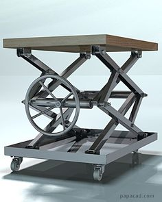 DIY coffee table - Cool coffee table design of steel Coffee Table Plans, Cool Coffee Tables, Coffe Table Design, Fabrication Tools, Lift Table, Welding Table, Welding Torch, Bookshelf Design, Cool Tables