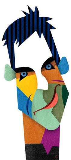 """""""Ben Stiller""""  Illustrator David Cowles - http://dunway.com/"""