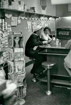 At the soda bar 1957.