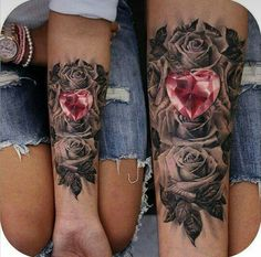 Tattoo roses heart