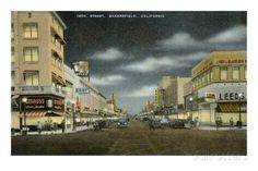 Bakersfield,  California Postcard 1940s