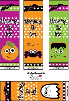 halloween printable bookmarks - Halloween Bookmarks To Color