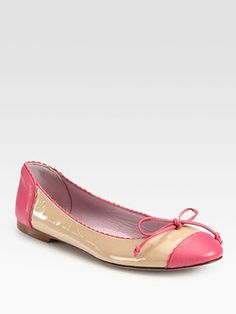 ~ these pink and cream Valentino ballet flats are to die for ~