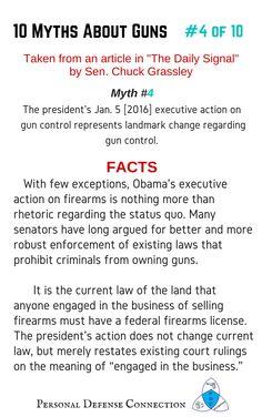 10 Myths About Guns: Part 4 in a series of 10 Executive Action   #gunmyths #firearmmyths #gunfacts #firearmfacts #truthaboutguns #firearms #guns #facts #executiveaction