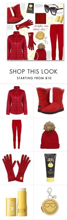 """""""Malu-designs CONTEST"""" by jckallan ❤ liked on Polyvore featuring UGG, WearAll, Sun Bum, Clinique, Rebecca Minkoff, chic, fun and bright"""