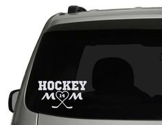 Custom Hockey Mom Decal with custom number and color, hockey decal, vinyl decals, car window decal by TheWordZone on Etsy