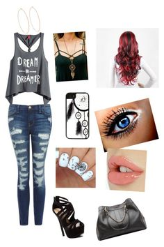 """""""Dream!!!!"""" by saexoxo ❤ liked on Polyvore featuring moda, CellPowerCases, Current/Elliott, H&M, See by Chloé, Rosa de la Cruz, Red Circle, dream, redhair e flawless"""