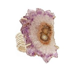 Anuja Tolia Purple Agate Ring ($173) ❤ liked on Polyvore