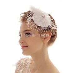 fa925e0481cd8 White Bridal Hair Accessories With CZ Diamond And Veil Decoration