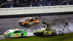 Patrick crashes out of Daytona 500 in nine-car wreck