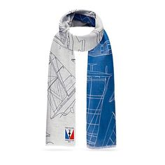 Louis Vuitton America's Cup 2017 scarf. Louis Vuitton America's Cup 2017, this striking two-tone stole is printed with technical drawings of boats that have won previous editions of the world's foremost sailing competition. Its generous size and lightweight blend of cotton and linen make it a highly versatile. Louis Vuitton Accessories Scarves & Wraps