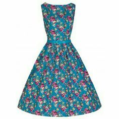 NWT Lindy Bop Floral Dress Brand new Audrey dress from Lindy Bop. Has pockets, and comes with belt. Color is described as Turquoise on site. Lindybop Dresses