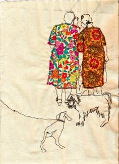 Embroidered illustrations by Sarah Walton