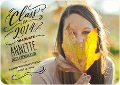 Swirly Smile - #Graduation Announcements - Petite Alma features a trendy black script in the design.