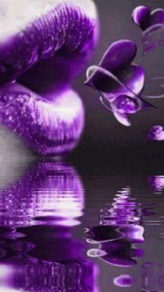 Kisses to the purple highness Purple Lips, Purple Haze, Shades Of Purple, Deep Purple, Purple And Black, Pink Purple, Purple Hearts, Lilac Lipstick, Red Lips