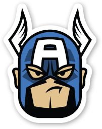 """SUPERS: """"Captain America"""" Stickers"""