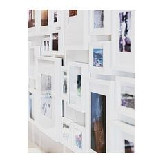 Wall of white frames