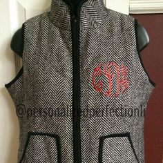 Hey girls ya'll need this!! Your welcome  Etsy listing at https://www.etsy.com/listing/213307811/sale-monogrammed-herringbone-puffer-vest