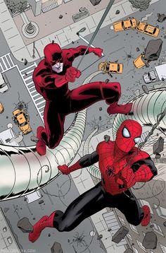 The Self-Absorbing Man: Daredevil No.22 Cover by Paolo Rivera #ComicArt #ComicBooks