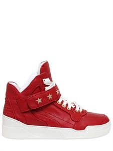 GIVENCHY  STAR STUDDED LEATHER HIGH TOP SNEAKERS  ITEM CODE 57I-L01002