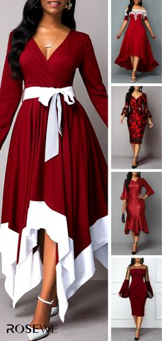 merry christmas: Hottest Christmas Dresses Perfect For Women Mode Outfits, Dress Outfits, Pretty Dresses, Beautiful Dresses, Holiday Dresses, Christmas Dresses, Frack, Dress Me Up, Women's Fashion Dresses